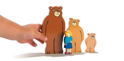 Wooden Character Set - Goldilocks and the Three Bears